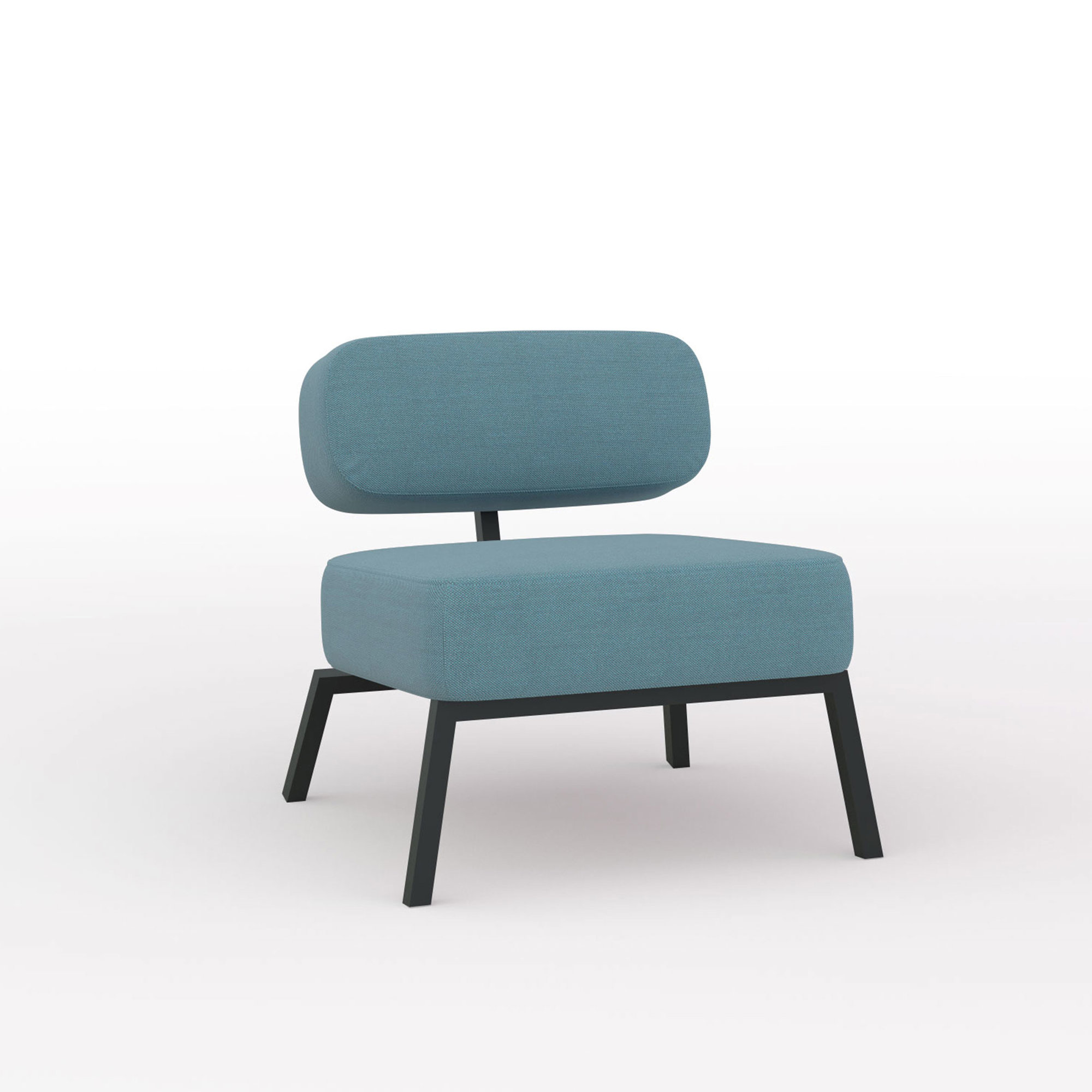 Design zitbank | Ode lounge chair 1 seater without armrest  steelcuttrio3 996 | Studio HENK | Listing_image