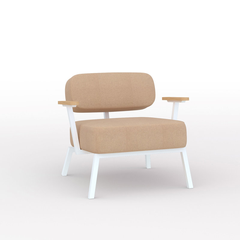 Design zitbank | Ode lounge chair 1 seater with armrest tonica2 523 | Studio HENK | Listing_image