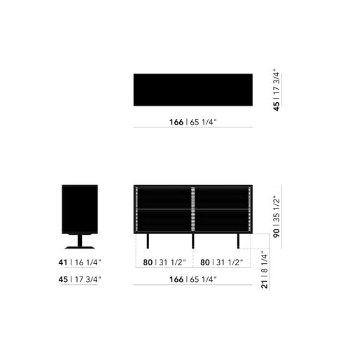 Design dressoir | The Dresser 22 | white | Studio HENK | schematic