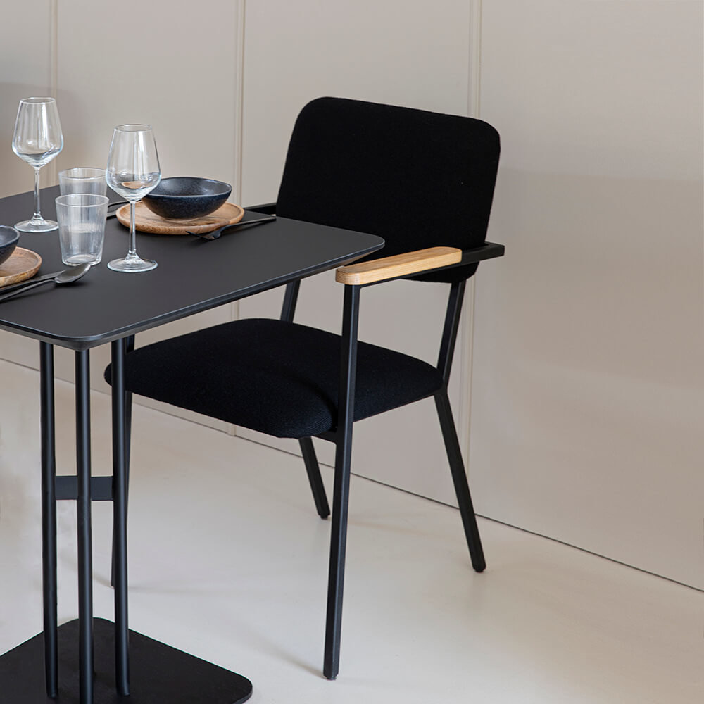 Design eetkamerstoel | Co Chair without armrest facet kiezel7 | Studio HENK |