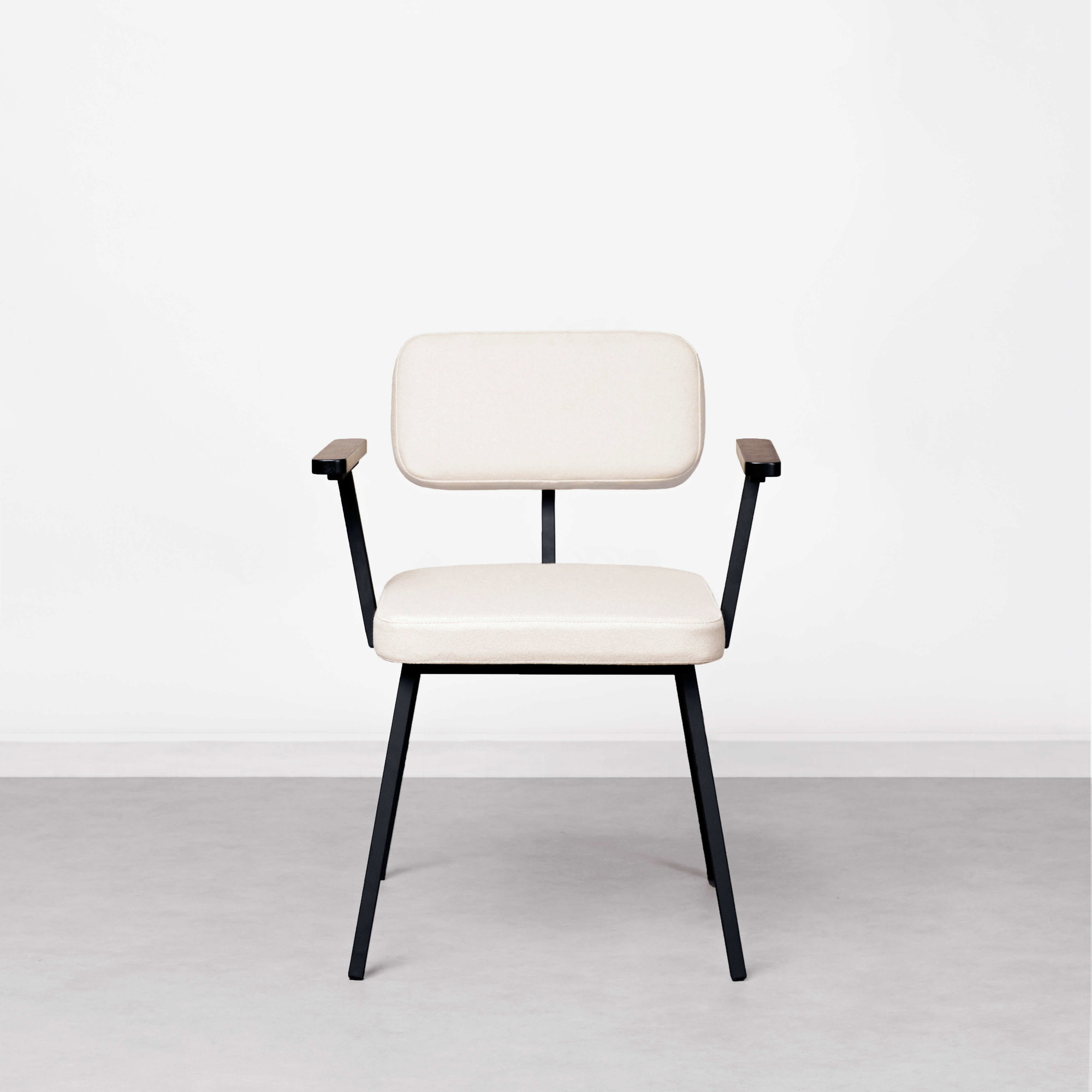 Design eetkamerstoel | Ode Chair without armrest steelcuttrio3 636 | Studio HENK |