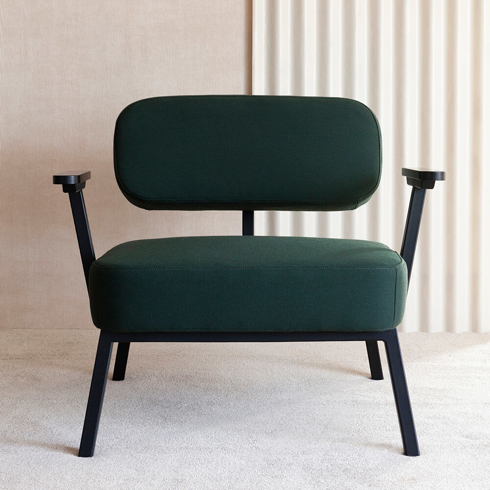 Design zitbank | Ode lounge chair 1 seater without armrest  steelcut2 985 | Studio HENK |