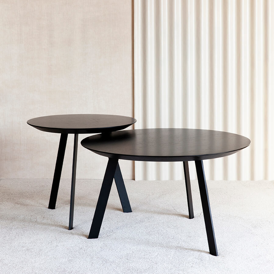 Design salontafel | New Co Coffee Table 70 Round Black | Oak hardwax oil natural light 3041 | Studio HENK |