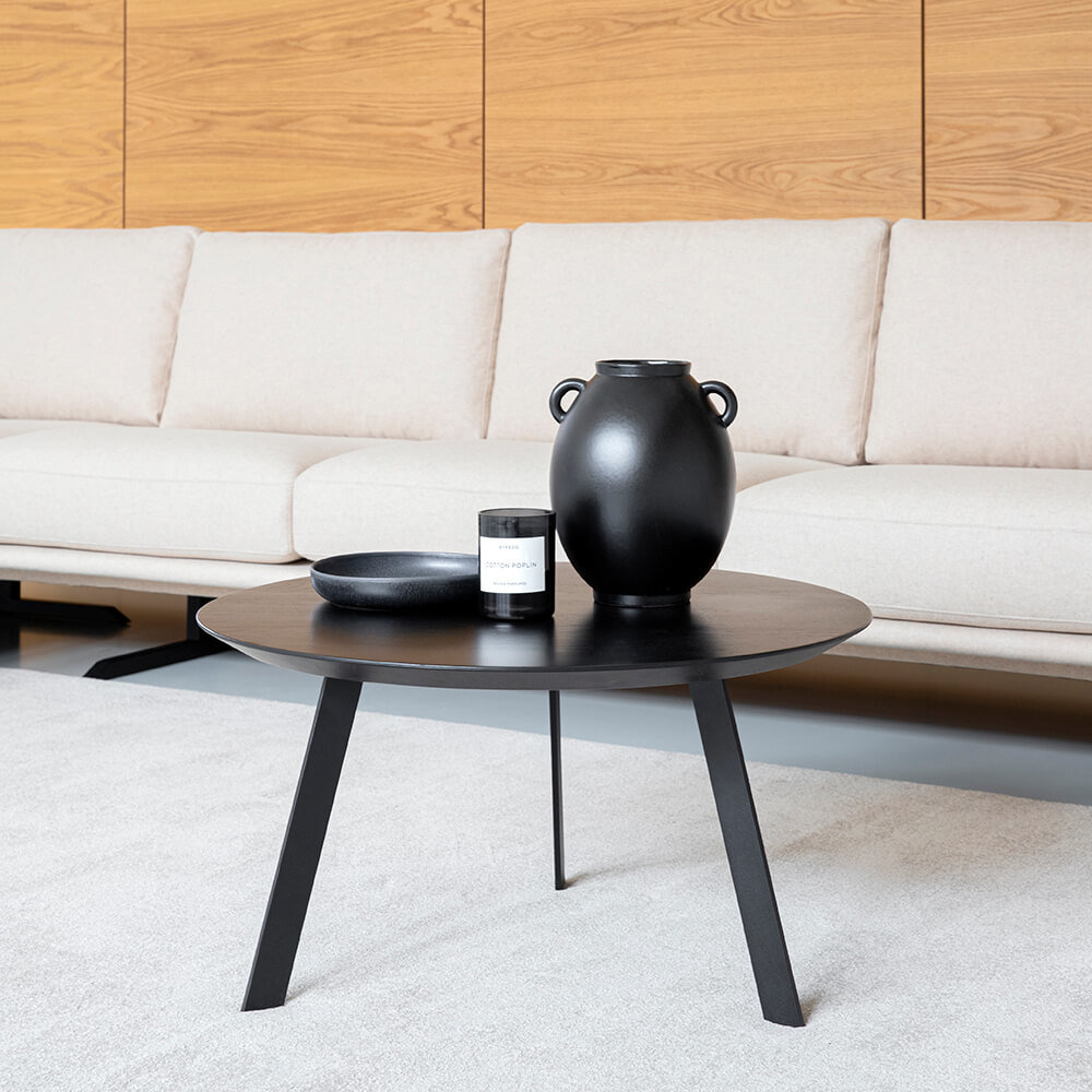 Design salontafel | New Co Coffee Table 70 Round Black | Oak black lacquer | Studio HENK |