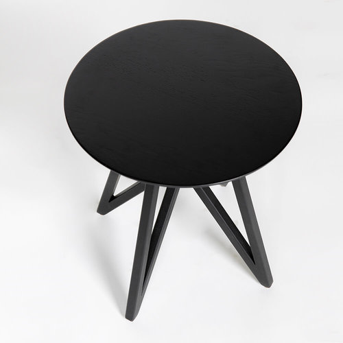 Design salontafel | Butterfly Quadpod Coffee Table Black | Oak black lacquer | Studio HENK |